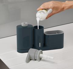 Органайзер для раковины с дозатором для мыла и бутылочкой Joseph Joseph SinkBase Plus серый 85091