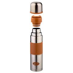 Термос Biostal Flër (0,75 литра) с цветной силиконовой вставкой, мокко NB-750P-C