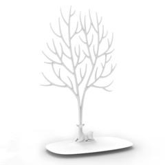 Декоративный органайзер для украшений Deer большой белый Qualy QL10172-WH