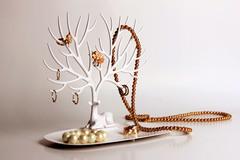 Декоративный органайзер для украшений Deer малый белый Qualy QL10171-WH