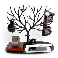 Декоративный органайзер для украшений Deer малый черный Qualy QL10171-BK