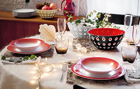 Салатница Guzzini Le Murrine 25 см красная 279425147