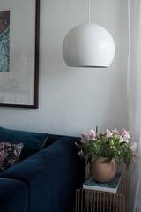 Лампа подвесная Ball, ?40 см, белая матовая, белый шнур Frandsen 153066001