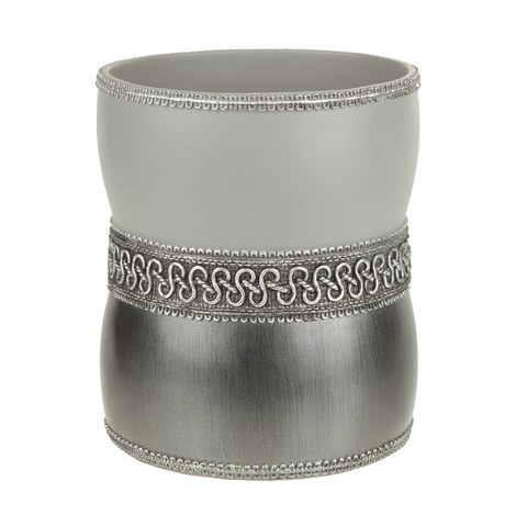 Корзина для мусора Avanti Braided Medallion Silver 11166F-SLV