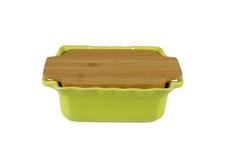 Форма с доской квадратная 25,5 см Appolia Cook&Stock LIGHT GREEN 130025501