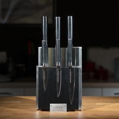 Комплект из 6 ножей Samura Mo-V и черной подставки