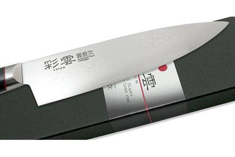 Нож кухонный Шеф 200мм Kanetsugu Saiun Damascus (9005)