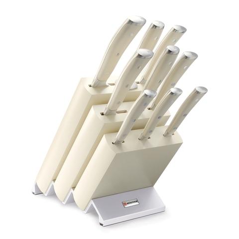 Набор из 9 кухонных ножей и подставки WUSTHOF Ikon Cream White арт. 9874