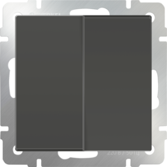 Выключатель двухклавишный (серо-коричневый) WL07-SW-2G Werkel