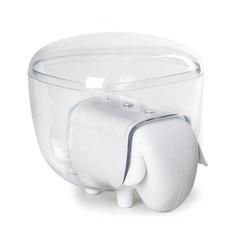 Держатель для ватных дисков Sheep белый-прозрачный Qualy QL10227-WH-CL