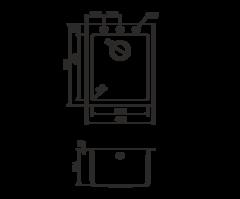 Кухонная мойка из искусственного гранита (Tetogranit) OMOIKIRI Bosen 41-BL (4993141)