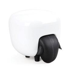 Держатель для ватных дисков Sheep чёрный-белый Qualy QL10227-BK-WH