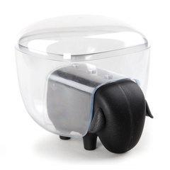Держатель для ватных дисков Sheep чёрный-прозрачный Qualy QL10227-BK-CL
