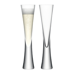 Набор из 2 бокалов-флейт Moya 170 мл прозрачный LSA G474-04-985