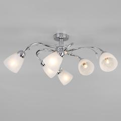 Потолочный светильник со стеклянными плафонами Eurosvet Priya 30169/6 хром