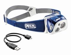 Фонарь светодиодный налобный Petzl Reactik синий, 200 лм, аккумулятор E92 HMI