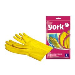 Перчатки хозяйственные резиновые, размер (L) York 092010