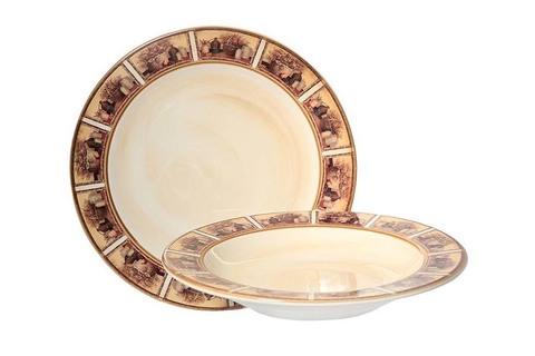 Набор тарелок:суповая и обеденная Натюрморт 25252