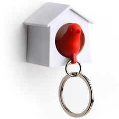 Держатель+брелок для ключей Mini Sparrow красный Qualy QL10184-WH-RD