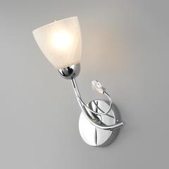 Настенный светильник со стеклянным плафоном Eurosvet Priya 30169/1 хром
