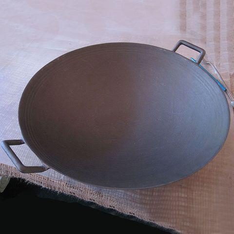 Вок чугунный 37 см (4,5л), с эмалированным покрытием, крышка стеклянная, CHASSEUR Black (цвет: черный) арт. 1037(7015)