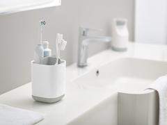 Органайзер для зубных щеток EasyStore белый-серый Joseph Joseph 70509