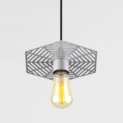 Подвесной светильник 50167/1 серебряный Eurosvet