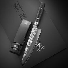 Набор из кухонного Шеф ножа 20 см (37 слоев) YAXELL Zen и точилки арт. YA35500-002