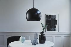 Лампа подвесная Ball, ?40 см, черная матовая, черный шнур Frandsen 153065001