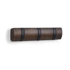 Вешалка настенная FLIP 3 крючка чёрная-орех Umbra 318853-048