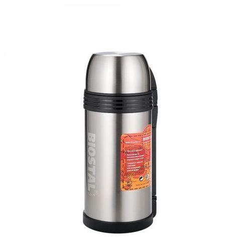 Термос универсальный (для еды и напитков) Biostal Спорт (1,5 литра) с ручкой, стальной