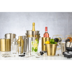 Ведерко для охлаждения вина Barware 1,3 л золото Viners v_0302.236
