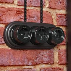 Ретро кабель витой 3х1,5 (черный) 50 м Ретро кабель витой  3х1,5  (черный) Werkel