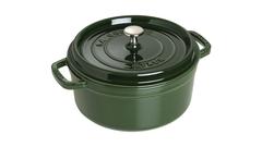 Кокот Staub круглый, 24 см, 3,8 л, зеленый базилик 1102485