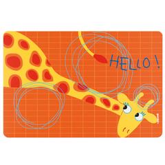 Коврик сервировочный детский Hello жираф Guzzini 22606652G