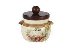 Банка для сыпучих продуктов с деревянной крышкой (чай) Элианто 26462