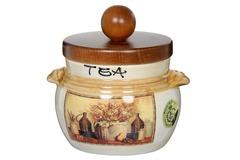 Банка для чая с деревянной крышкой Натюрморт 14136