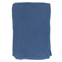 Плед из хлопка жемчужной вязки пыльно-голубого цвета из коллекции Essential, 130х180 см Tkano TK20-TH0004