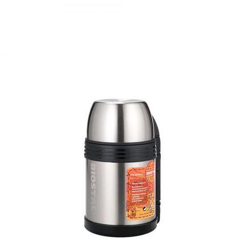Термос универсальный (для еды и напитков) Biostal Спорт (0,8 литра) с ручкой, стальной