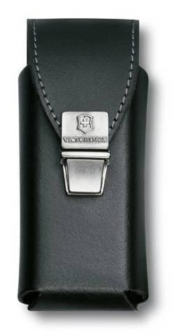 Чехол Victorinox для SwissTool Plus, кожаный, черный, замок с пружинной защелкой , в пакете с подвес MV-4.0833.L2