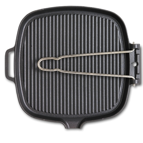 Сковорода гриль чугунная с эмалированным покрытием 27.5х25.5 см CHASSEUR арт. 32722 (2216)