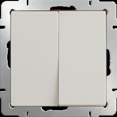 Выключатель двухклавишный (слоновая кость) WL03-SW-2G-ivory Werkel