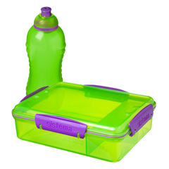 Набор контейнер с разделителями (975 мл) и бутылка (330 мл) Sistema LUNCH 41575