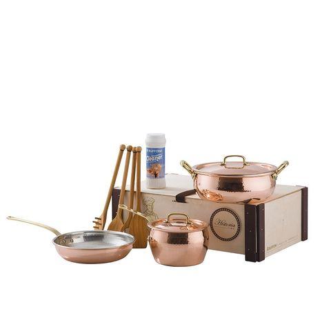 Сковорода медная 24см с бронзовой декорированной ручкой, RUFFONI Historia decor арт. 3106-24 Ruffoni