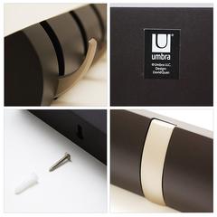 Вешалка настенная горизонтальная Flip 5 крючков никель Umbra 318852-410