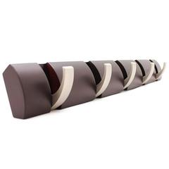 Вешалка настенная горизонтальная Flip 5 крючков эспрессо Umbra 318850-213