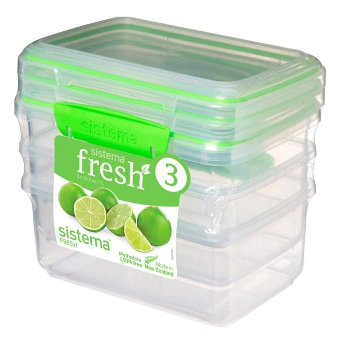 Набор контейнеров (3 шт.) 1 л Sistema FRESH Packs 951613