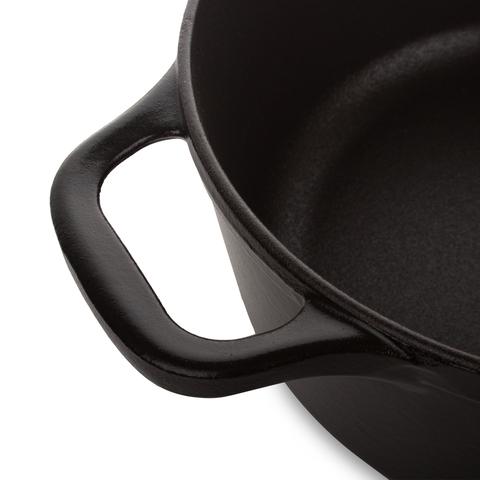 Кастрюля чугунная 26см (5,0л) INVICTA Noir mat арт. 402261
