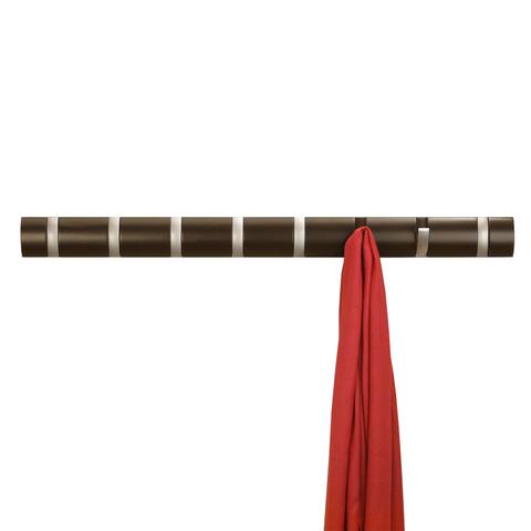 Вешалка настенная горизонтальная Flip 8 крючков эспрессо Umbra 318858-213
