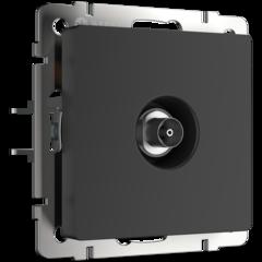 ТВ-розетка проходная  (черный матовый) WL08-TV-2W Werkel